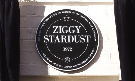 David Bowie Ziggy Stardust plaque